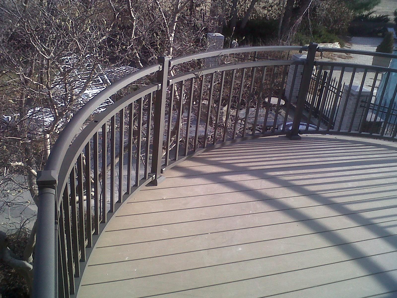 Custom Residential Curved Railing Omarail Aluminum